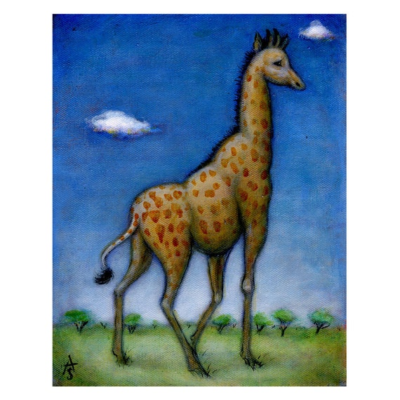 Giraffe original oil painting