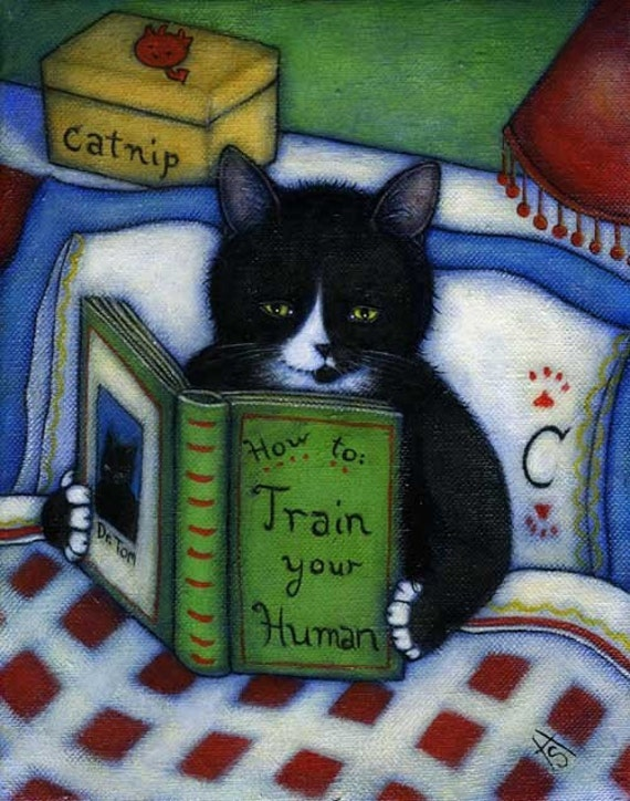 Tuxedo Cat cards. Charlie's How to Train your Human. Set of 5