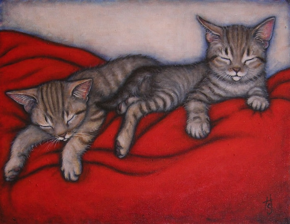 Commission an original 14x18 oil painting of Your Cats