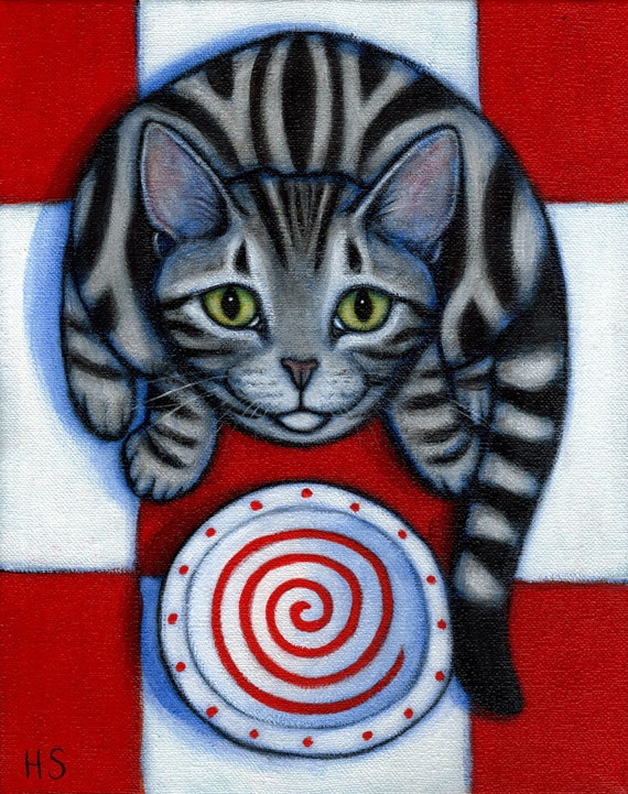 Commission an original oil painting of YOUR Hungry Cat