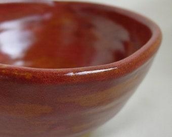 Stoneware Condiment Bowl in Cedar Shino Glaze