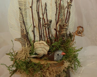Fairy Chair~Natural Fairy Twig Chair~Fairy Moss Floral Chair~-Fairy Garden Furniture~Fairy Decor