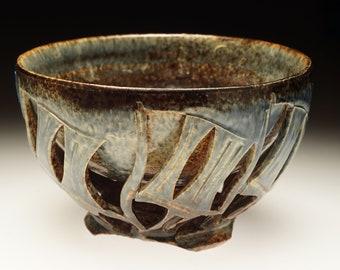 Handthrown ceramic art chawan doublewalled teabowl matcha by Cory Lum CL09