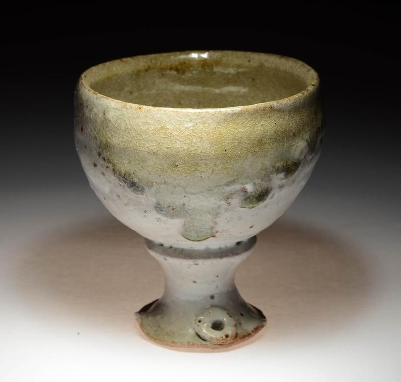 juicy wood ash shino guinomi or sake cup guiCL1 image 0