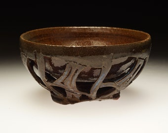 Matcha chawan green tea bowl in earth colors with hints of blue teabowl cory Lum ceramics