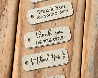 Mini Kraft Thank You Tags Gift Tags Order Packaging Wedding Small Favor Tags