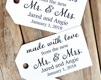 d1fe111c9e88 Rustic Kraft Wedding Favor Tags Cheers With Love Floral | Etsy