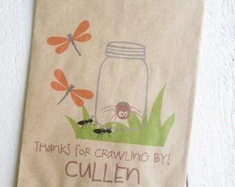 "25 Custom Bug In A Jar Birthday Favor Bags 5""x7.5"""