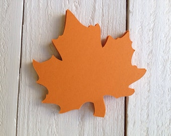 "Autumn Leaf Paper Die Cut 3.5"""