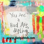 6x6 print - You Are a Badass Darling