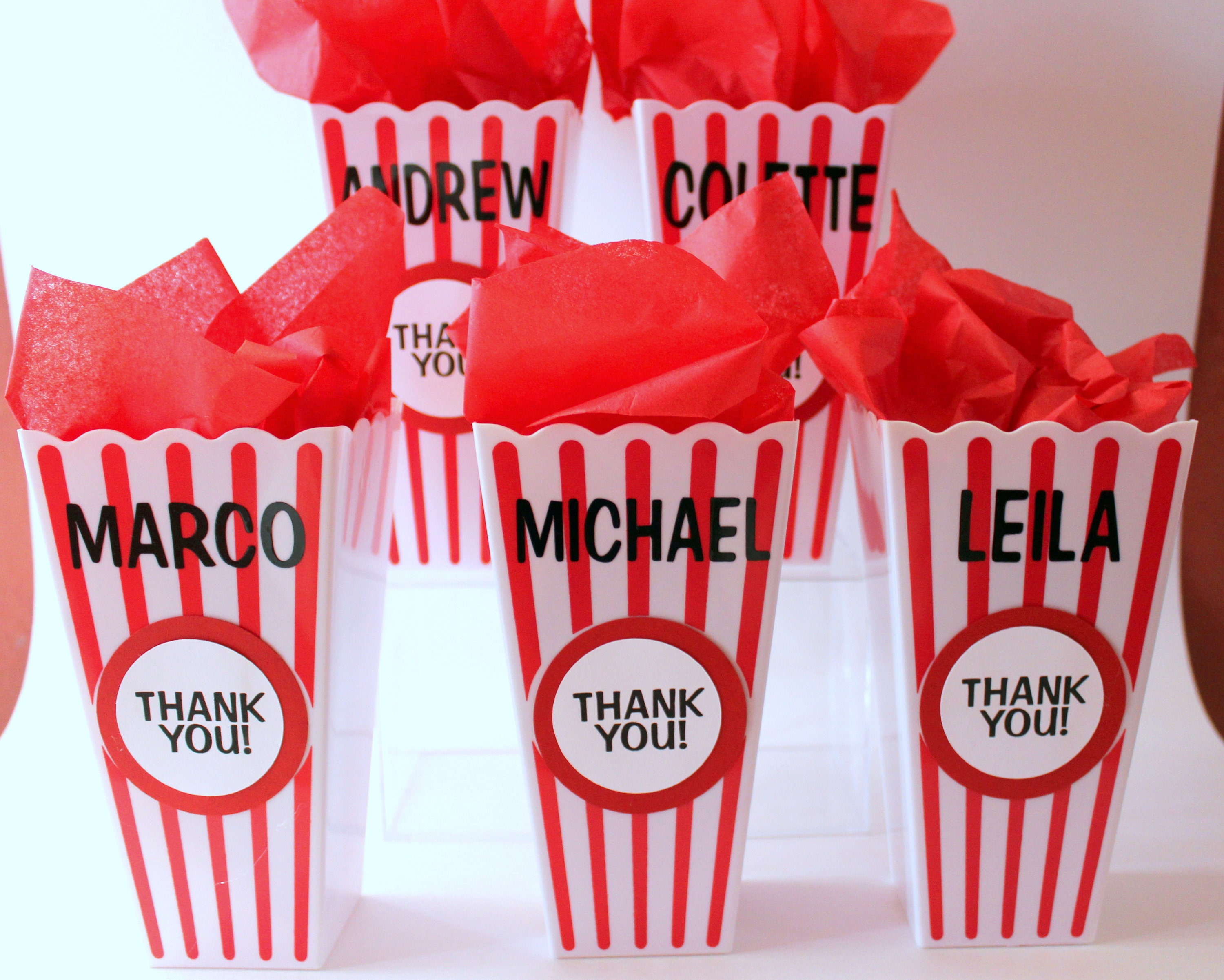Personalized Popcorn favor container circus carnival party | Etsy