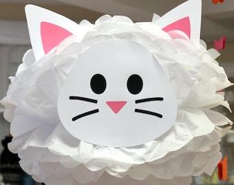Cat tissue paper pom kit