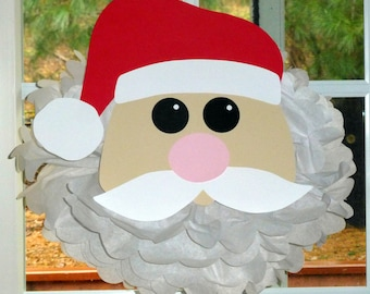 Santa Claus pom pom kit       Santa Christmas Rudolph party decoration Winter Wonderland Onederland
