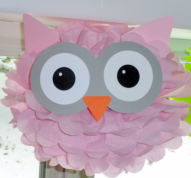 Owl Pom Kit Baby Shower First Birthday Party Decoration