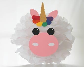 Unicorn pom pom kit rainbow magic baby shower first birthday party decoration
