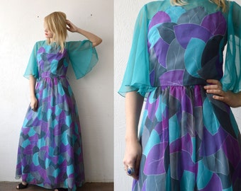 Vera Mont-dress bleu occasion Line