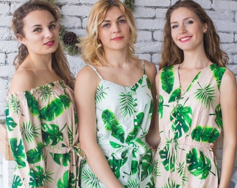 951282f5290d Fun Tropics Mismatched Rompers By Silkandmore - Bridesmaids Gifts