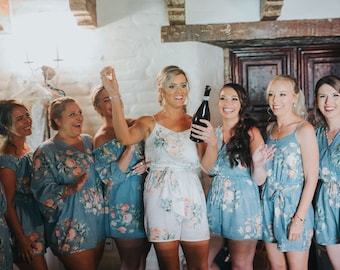 Bridesmaids Robes Kaftans Hospital Gowns and more by silkandmore 771bbe377