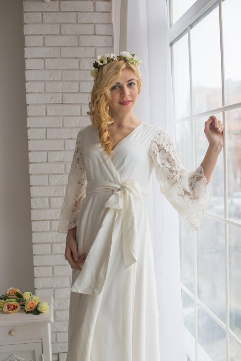 232a2e1326e All White Bridal Robe from my Paris Inspirations Collection