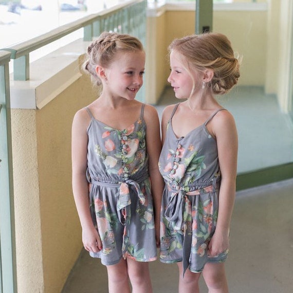 2dd671e3a514 Gray Belted Slip Style Rompers By Silkandmore Dreamy Angel