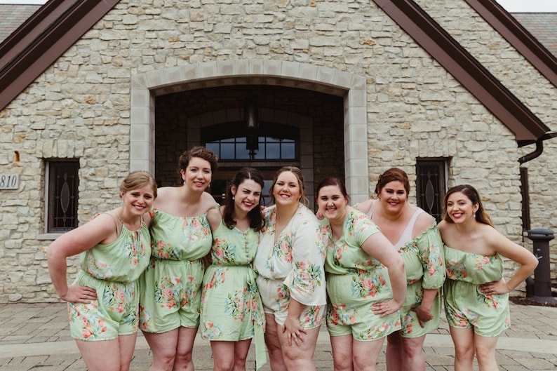 a66804232b1 Soft Sage Mismatched Rompers By Silkandmore - Bridesmaids Gifts