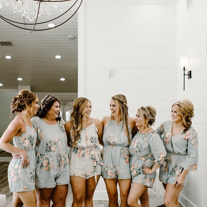 37a0782a1ea Silver Floral Rompers By Silkandmore Bridesmaids Gifts