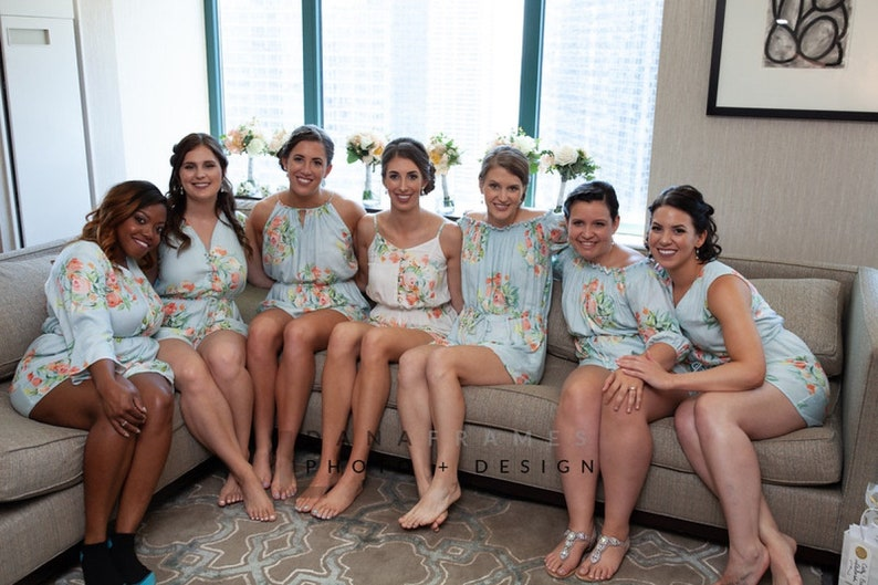 331aef47412 Light Blue Mismatched Rompers By Silkandmore - Bridesmaids Gifts