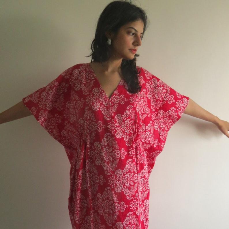 579c2484b Lazo gratis Damasco Kaftan verano vestido largo Maxi
