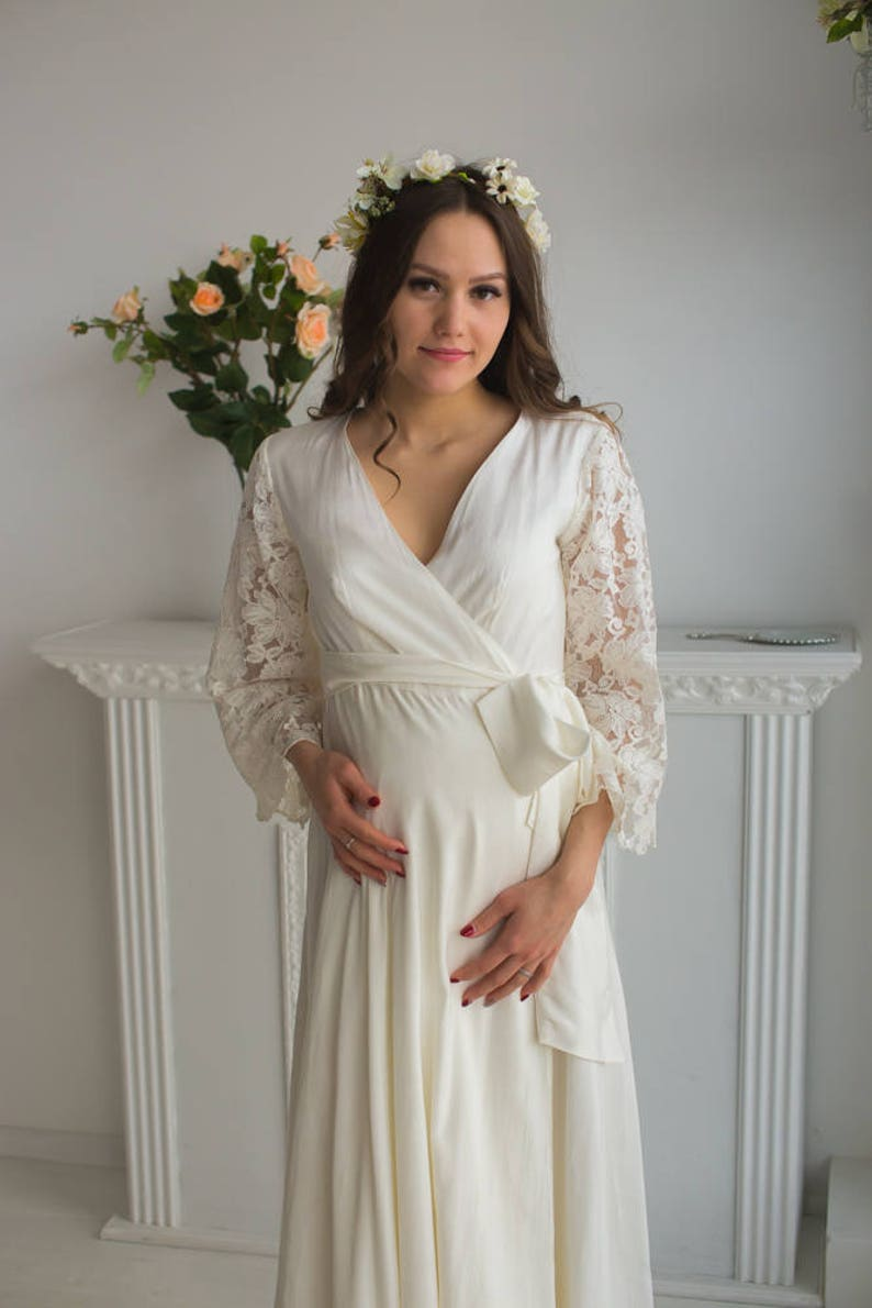 304db6f4581 All White Maternity Robe from my Paris Inspirations Collection