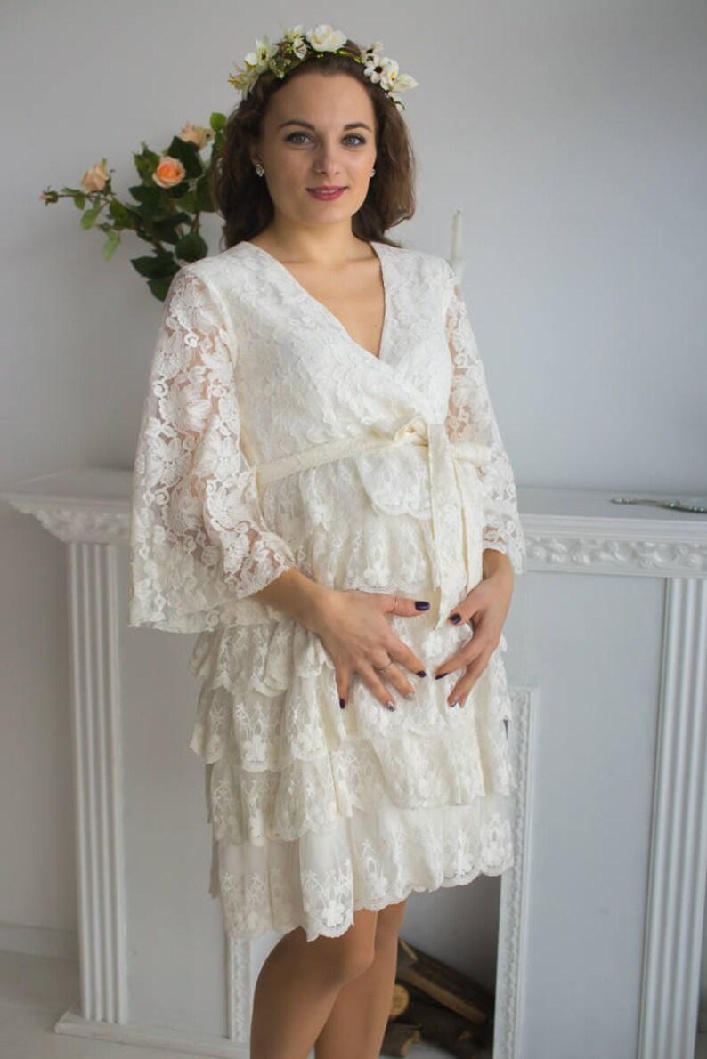5c0aeb053 Bata de maternidad de encaje de mi colección de inspiraciones