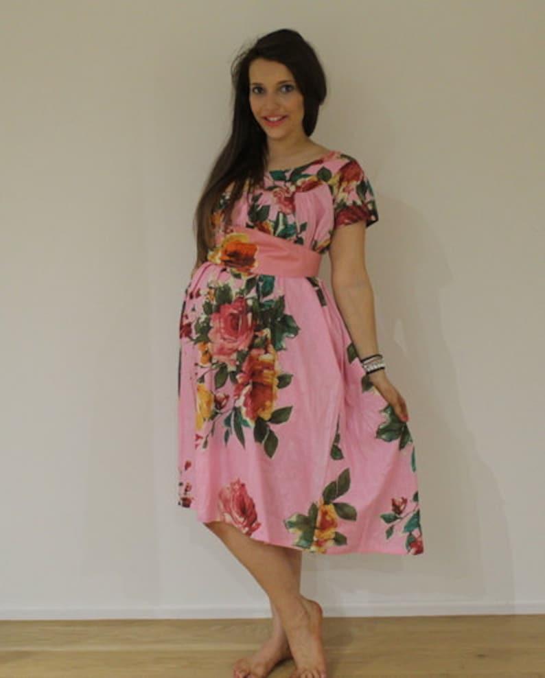 63d450d9a Florales de los años 50 estilo Maxi vestido de maternidad | Etsy