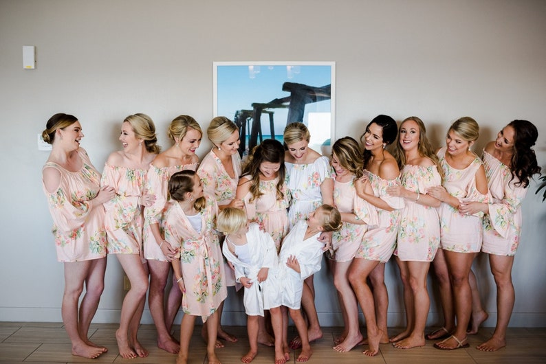 0a18744fa07 Blush Mismatched Rompers By Silkandmore - Bridesmaids Gifts