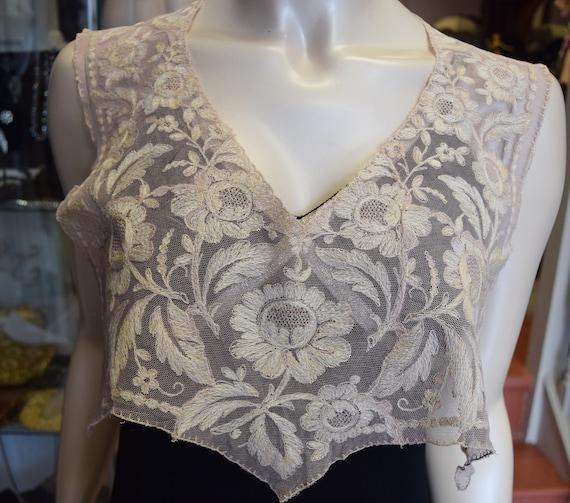 Edwardian Brussels Lace Yoke/Collar