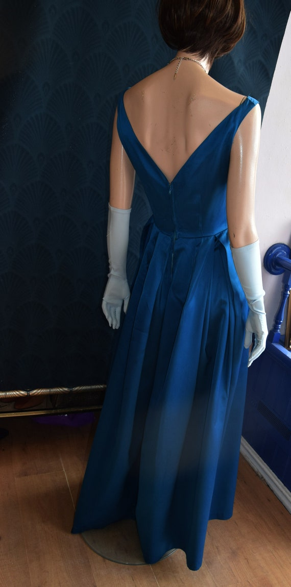 1950's Horrockses Satin Gown  34 bust 26 waist - image 5