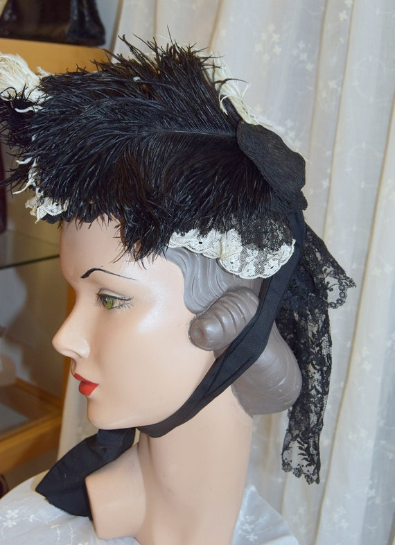 Victorian Silk Bonnet circa 1880's
