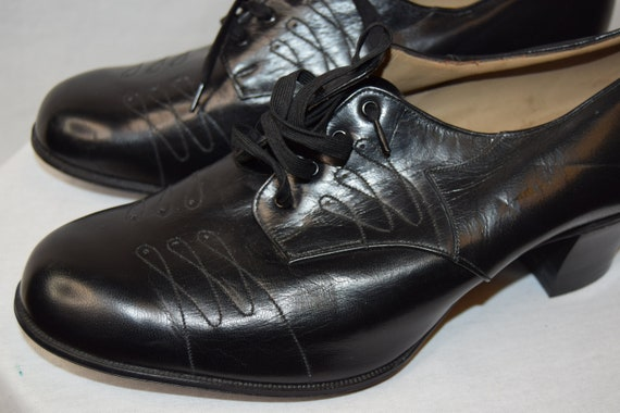 1940's CC41 deadstock black leather shoes approx U