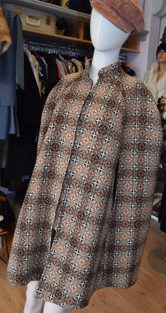 1960's Welsh Tapestry Cape