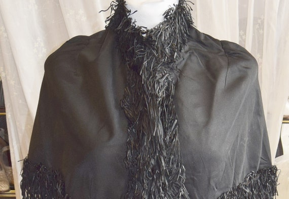 Victorian Fringed Capelet Mourning Cape
