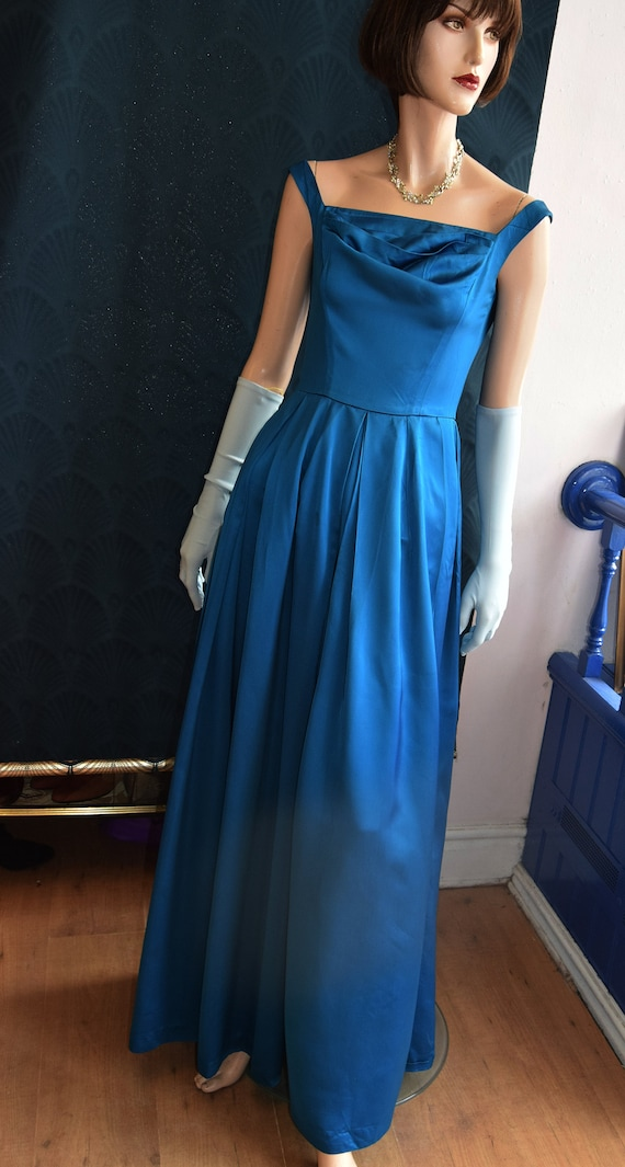 1950's Horrockses Satin Gown  34 bust 26 waist - image 2