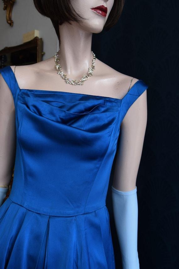 1950's Horrockses Satin Gown  34 bust 26 waist