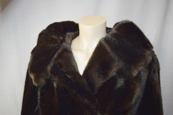 """1950s Faux Fur Coat with Huge Collar 36/38"""" bust"""