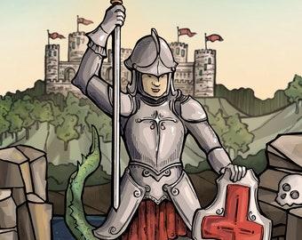 St George Holy Card