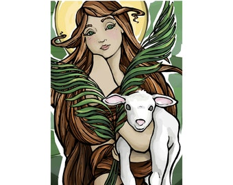 St Agnes Art Print