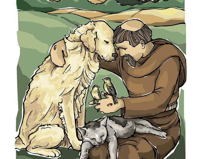 St. Francis of Assisi with Animals Art Print