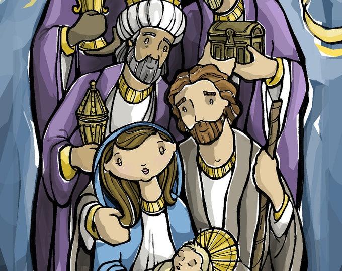 Epiphany Holy Card - Three Wise Men