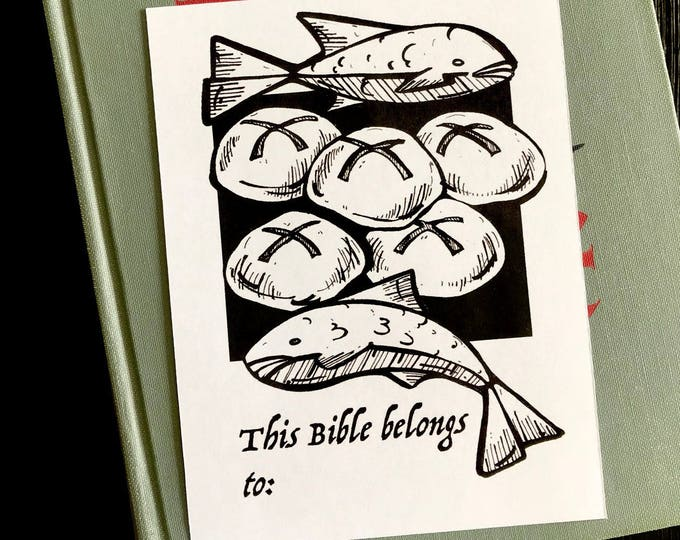 Bookplate - Loaves and Fishes Digital File for Books and Bible