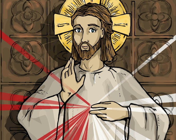 The Divine Mercy of Jesus Holy Card