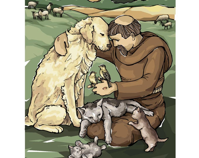 St. Francis of Assisi with the Animals Art Print - Special Edition