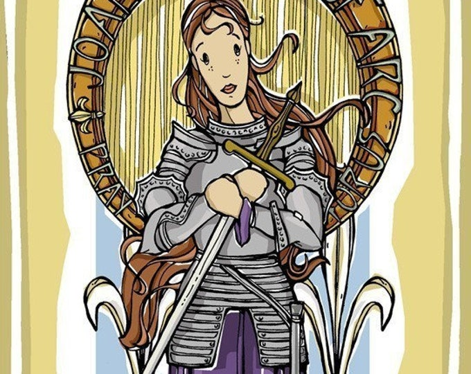 St. Joan of Arc Prayer Card
