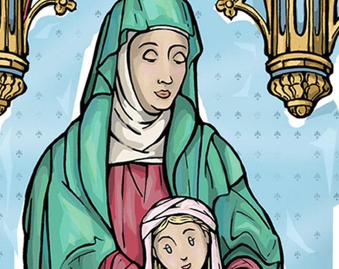 Saint Anne Holy Card